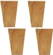 WaiMin Meubelvoeten massief houten vervanging met montageplaten schroeven, gemaakt van eiken voor slaapbank bank bank stoe...