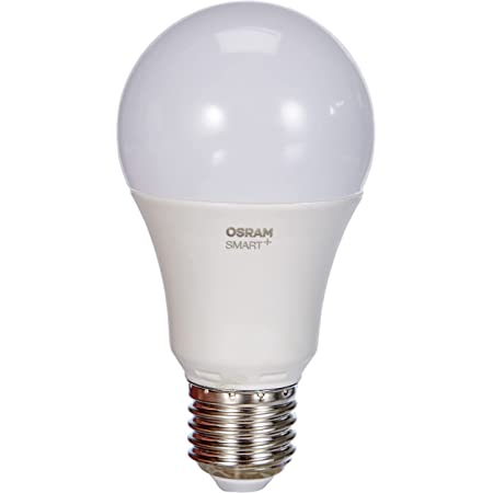 OSRAM Smart+ Ampoule LED Connectée - Culot E27 - Forme Standard - Dimmable - Blanc Chaud/Froid 2700/6500K - 9W (équivalent 60W) - Zigbee - Compatible Android & Amazon Alexa
