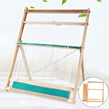 Wooden Multi-Craft Weaving Loom with Stand Wooden Multi-Craft Weaving Loom,Extra-Large Frame, Develops Creativity, 24.4H x...