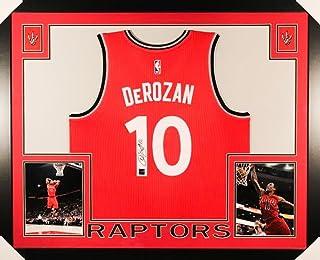 86c38593b DeMar DeRozan Signed Raptors 35x43 Custom Framed Jersey (Frameworth COA)