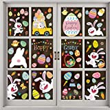 254 PCS Easter Window Clings 9 Sheets,Easter Window Sticker,Easter Window Decals, Easter Window Clings Stickers for Glass Windows Decorations