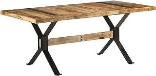 Tidyard Table de Salle à Manger Rectangulaire, Table de Repas Meuble à Manger, Table Console Extensible 180x90x76 cm Bois ...