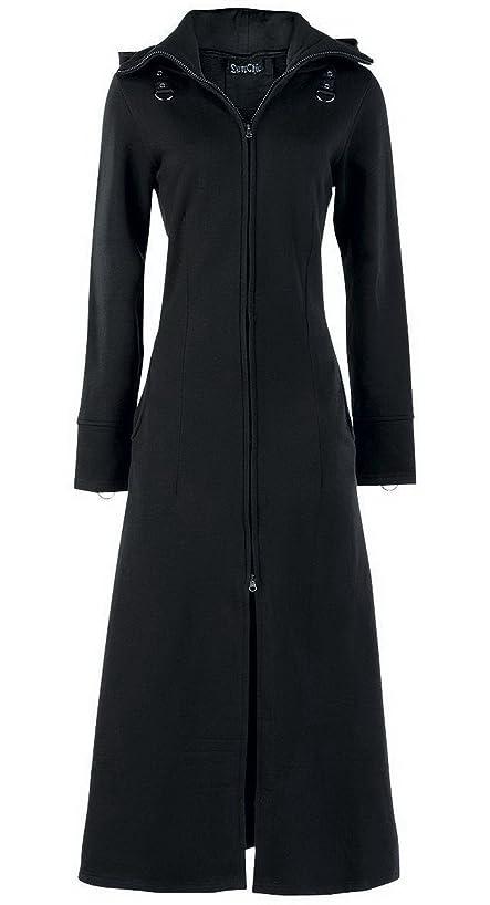 DarcChic Womens Raven Coat Black Gothic Full Length Long Steampunk