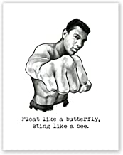 AtoZStudio A63 Muhammad Ali Poster // Box Wall Art Decor // Quote // Motivational Art Print // Gym Training Boxing Artwork // Picture // Float Like A Butterfly 11x14
