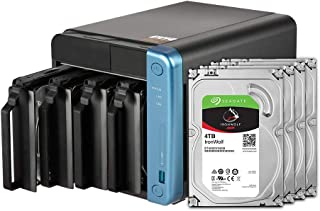 QNAP 4 Bay NAS with 4TB Seagate IronWolf Drives Preconfigured RAID 5 Bundle (TS-453Be-4G-44R-US)