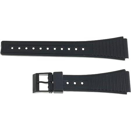 Correa de Repuesto Compatible con Reloj Casio F-91W Negra Pulsera 18mm Plastico