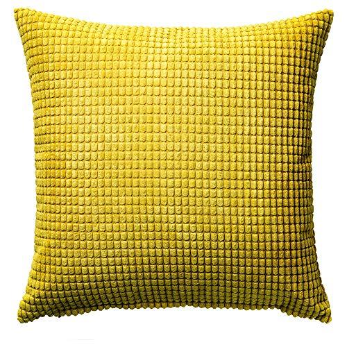 IKEA GULLKLOCKA クッションカバー 50×50cm イエロー 30286464 *カバーのみの販売です