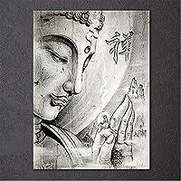 フルスクエアラウンドドリルブッダ5DDiyダイヤモンドペインティング宗教的な禅刺繡モザイククロスステッチの結婚式の装飾