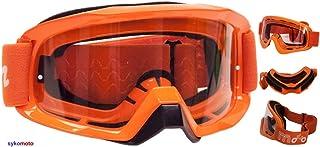 ViPER Rider SYKOMOTO-X1 Motocross Brille MX Motorrad Herren Damen Helm mit Winddichte, kratzfeste transparente Gläser, Ski-Off Road-Enduro-SNOWBOARD Orange