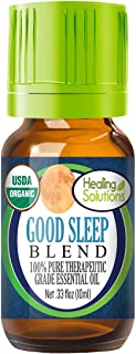 Organic Good Sleep Blend Essential Oil (100% Pure - USDA Certified Organic) Best Therapeutic Grade Essential Oil - 10ml