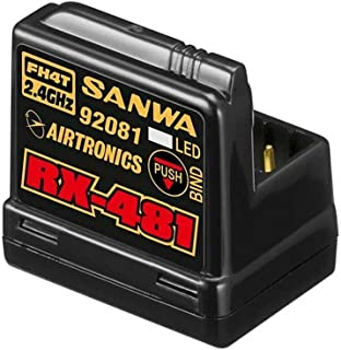 Sanwa 107A41258A Sanwa 4-Channel Rx481 Receiver with Built-in Antenna