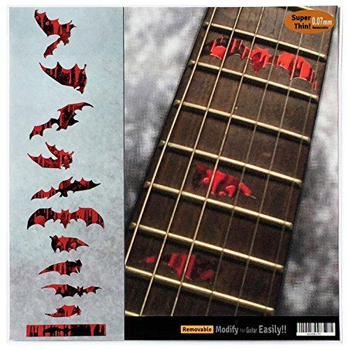 Griffbrett Markers Inlay Aufkleber Aufkleber für Gitarre und Bass – Vampir Bloody Bats