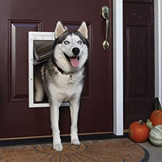 PetSafe Extreme Weather Energy Efficient Pet Door, Unique 3 Flap System, White, for Dogs and Cats
