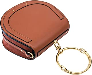 ASAnl Latest Leather Designer Bracelet Saddle Tote Crossbody Handbags for Women Clearance