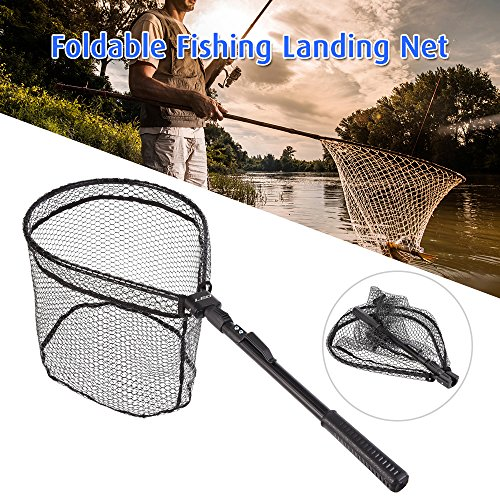 Lixada Fly Fishing Landing Net Wooden Handle Frame Catch (type4)