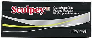 Sculpey III Polymer Clay, 1-Pound, Black, 1/pkg