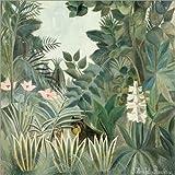 Poster 50 x 50 cm: Äquatorialer Dschungel von Henri