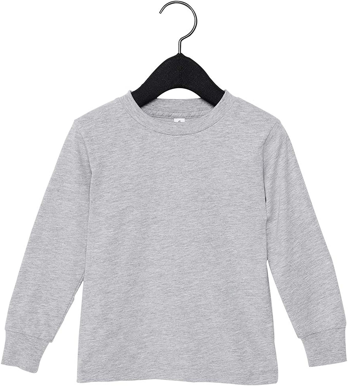 Bella + Canvas Boys Jersey Long Sleeve T-Shirt (3501T) -Athletic H