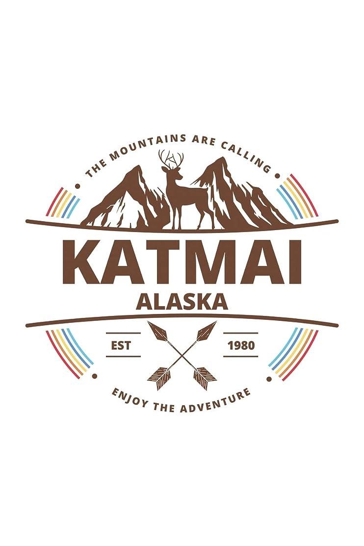 Katmai Alaska: Cool Katmai Alaska National Park Travel Journal / Notebook / Diary / Hiking & Camping Log Gift (6 x 9 - 110 Blank Lined Pages)