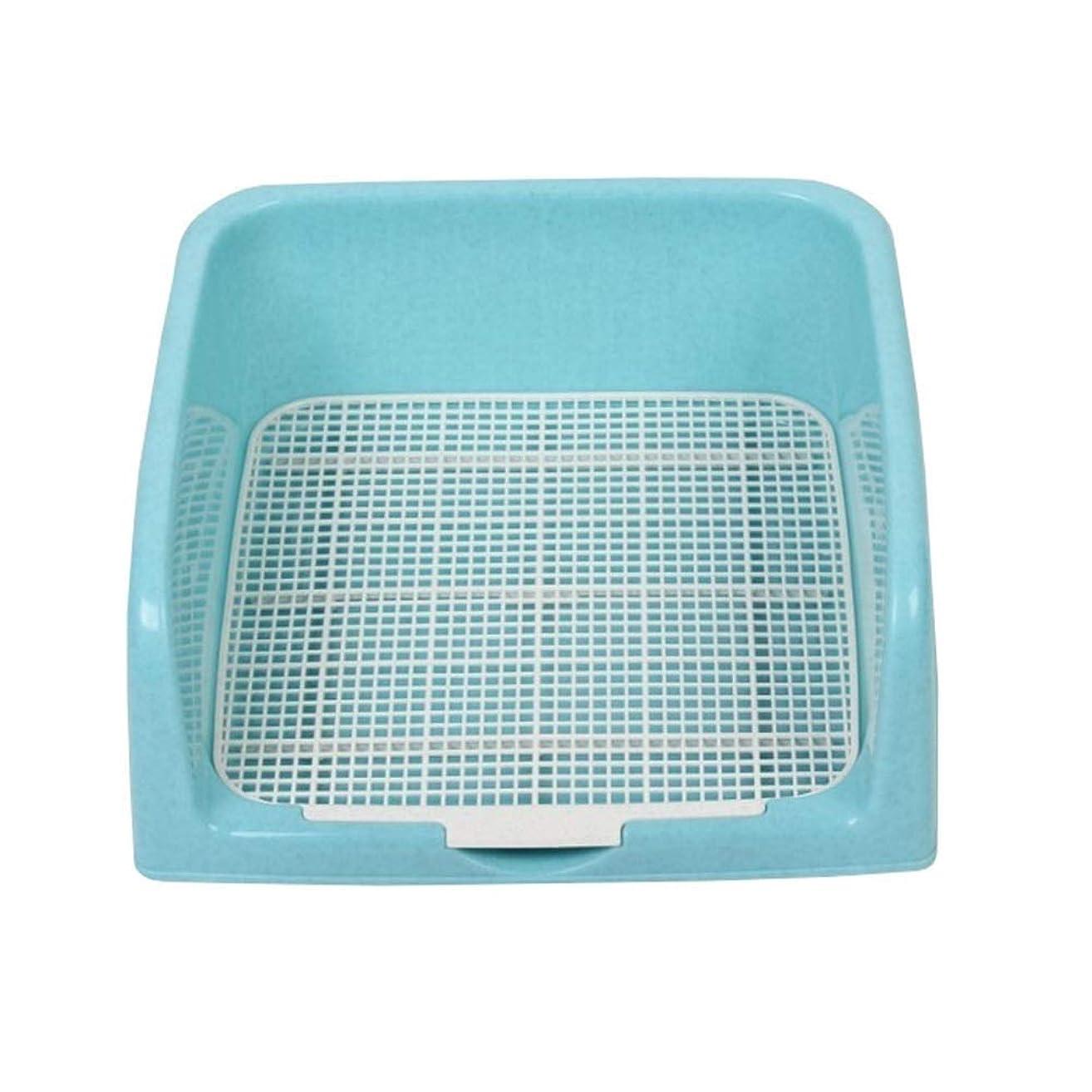 計器飛ぶ支配するLT ペットドッグキャットトイレプラスチックトイレトレーニング (Color : Blue)