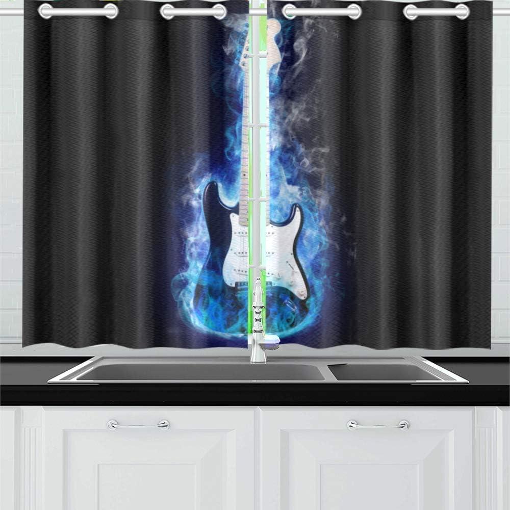 free shipping INTERESTPRINT High quality new Blackout Kitchen Window Panel Dra Treatments Small
