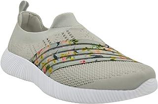 KazarMax XXIV Women's & Girl's Latest Collection, Comfortable Light Grey Printed Slipon's Socks Sneakers/Trainers