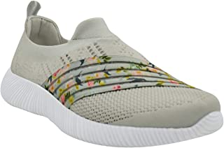 KazarMax XXIV Women's & Girl's Latest Collection, Comfortable & Fashionable Light Grey Printed Slipon's Socks Sneakers/Trainers