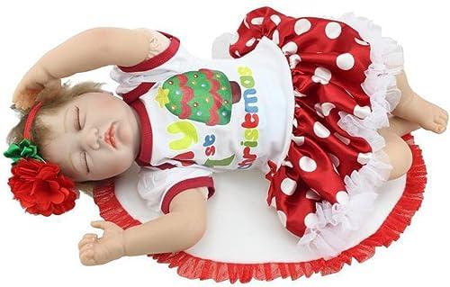 gran selección y entrega rápida SHTWAD Navidad SimulacióN Reborn Bebé Silicona Silicona Silicona Blanda Lindo Creativo Festival Regalo 55cm  despacho de tienda