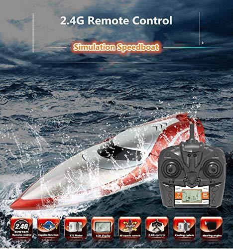 Highspeed RC ferngesteuertes Speedboot mit 2,4GHz digital vollproportional, Boot Racing Rennboot-Modell mit Top-Speed bis zu 25km/h