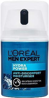 L'Oréal Paris Men Expert, uppfriskande ansiktscreme för män med torr hud, Hydra Power Refreshing Moisturiser, 50 ml