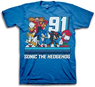 Boys Sonic The Hedgehog Shirt - Featuring Sonic, Tails, and Knuckles - The Hedgehog Trio - Official T-Shirt