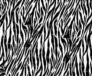 1/4 ~ Zebra Stripe Print Background Birthday ~ Edible Cake/Cupcake Topper - D6918