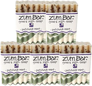 Indigo Wild Zum Bar Goat's Milk Soap, Patchouli Mint - 5 Pack