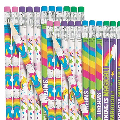 from Fun Express Unicorn Pencils~School/Teacher/Classroom Supplies~Student Incentives~Favors (48 Pack)