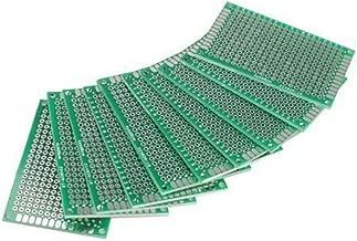 HiLetgo® 10個セット 5*7CM FR-4 ユニバーサル ブレッドボード プロトタイプ PCB ダブルサイド Tinned 1.6mm Thick [並行輸入品]