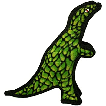 TUFFY - World's Tuffest Soft Dog Toy - Dinosaur TRex - Squeakers - Multiple Layers. Made Durable, Strong & Tough. Interactive Play (Tug, Toss & Fetch). Machine Washable & Floats.
