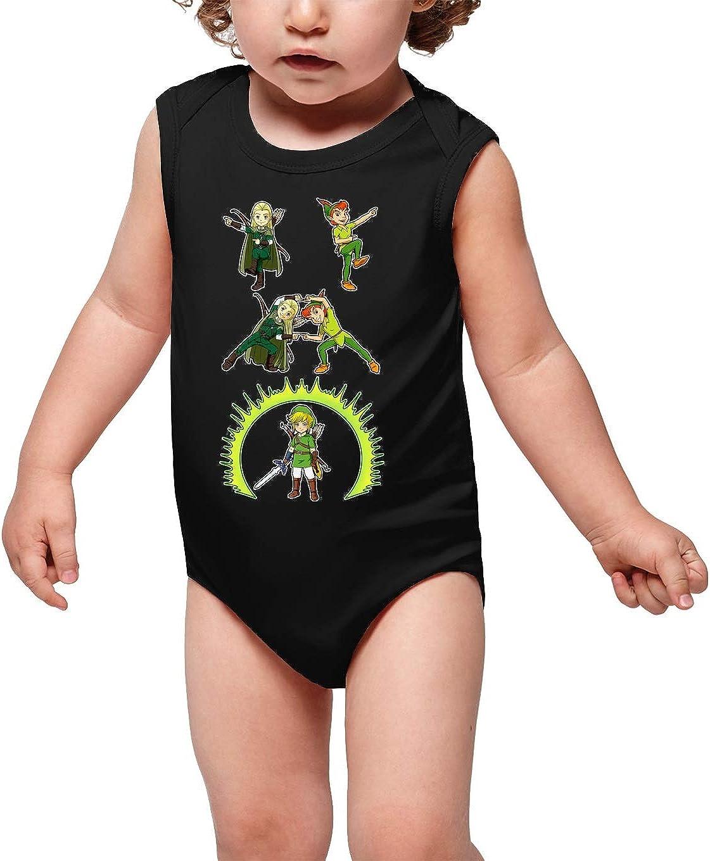 Okiwoki Body b/éb/é Filles Peter Pan et Legolas lelfe : Le Seigneur de la Fusion. Rose Zelda et Seigneur des Anneaux parodique Link Parodie Zelda et Seigneur des Anneaux