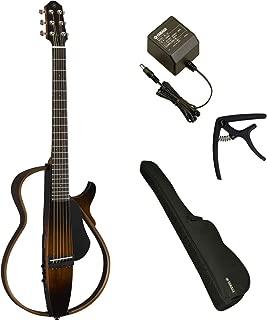 YAMAHA / SLG200S TBS (タバコブラウンサンバースト) 【ACアダプター&カポつき7点セット】 ヤマハ サイレントギター アコースティックギター スチール弦仕様 SLG-200S