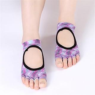Cotton Halter Non-Slip Fingerprint Cotton Four Seasons Yoga Socks,Fully Breathable