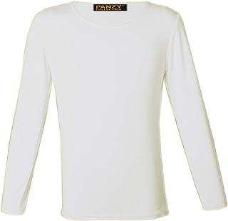 933bf6c32 Panzys Girls Long Sleeve Plain Basic TOP Kids T-Shirt Tops Crew Uniform TEE  2