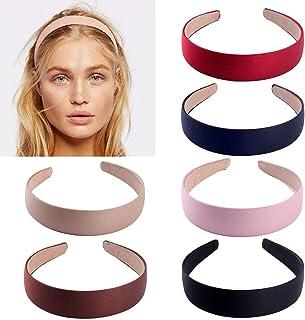 6 stks satijnen hoofdbanden, 1 inch breed antislip lint haarband hoofdbanden voor vrouwen meisje (6 kleuren)