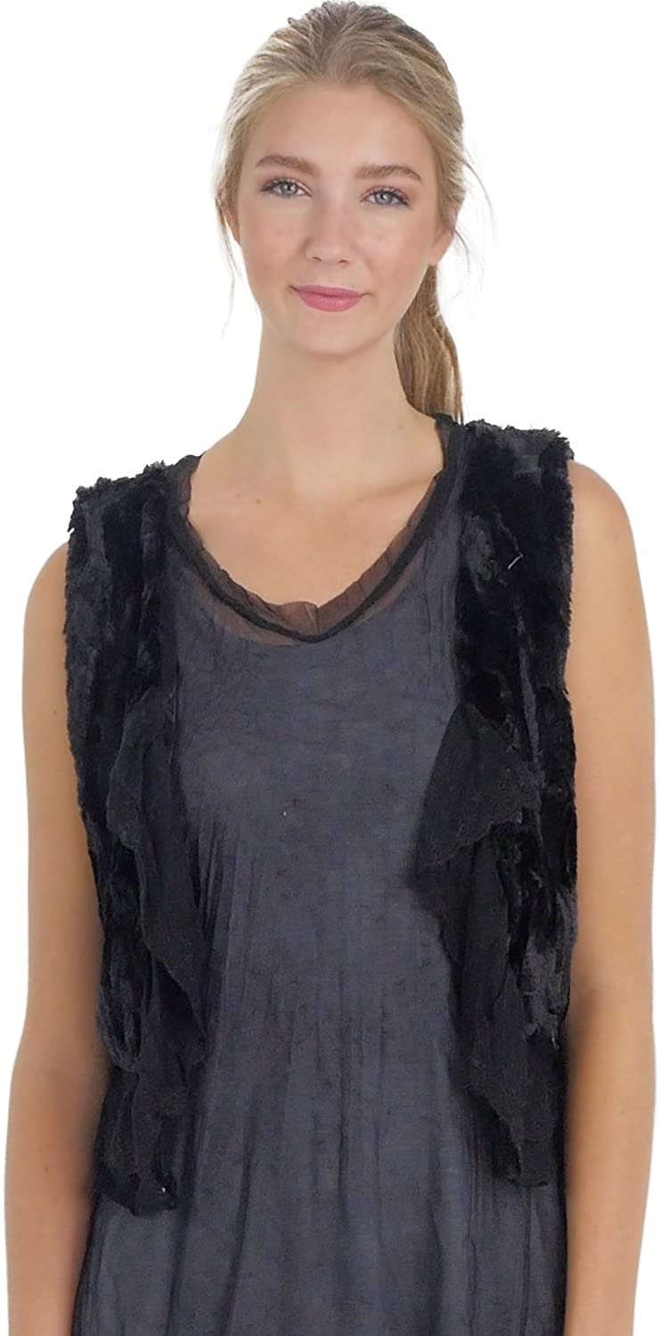 Melody Faux Suede and Fur Vest