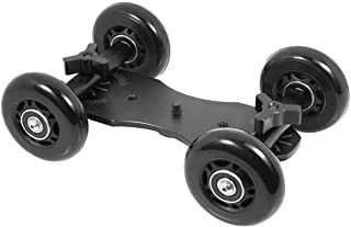 Yantralay Professional Track Rail Slider Rolling Skater Slider Dolly for DSLR & Video Camcorders - Black