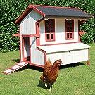 zoo-xxl Hühnerhaus Hühnerstall Kleintierstall Cordula mit Kotschublade einfache Reinigung ca. 110x76x107 cm für draußen