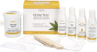 GiGi Hemp Wax at-Home Hair Waxing Kit for Safe, Fast and Effective Hair Removal