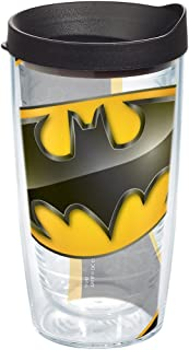 Tervis 1147233 Batman - Logo Tumbler with Wrap and Black Lid 16oz, Clear