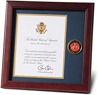 Allied Frame United States Marine Corps Presidential Memorial Certificate Frame with Medallion - 8 x 10 inch