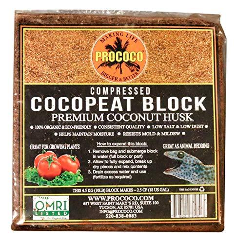 Prococo Cocopeat Compressed Block Premium Coconut Coir Husk Coco Brick Coconut Fiber Substrate Plant Soil Potting Soil Organic Soil Coco Coir Bricks