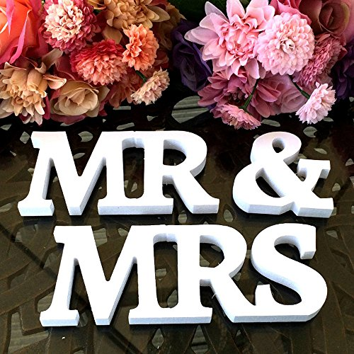 MR & MRS Wooden Letters Wedding Decoration Present Props Table Adornment Home & Garden Home Decor