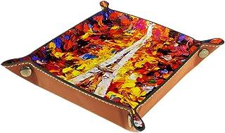 BestIdeas Panier de Rangement carré 20,5 × 20,5 cm, avec Colibri et Fleurs, boîte de Rangement sur Table pour Maison, Bure...